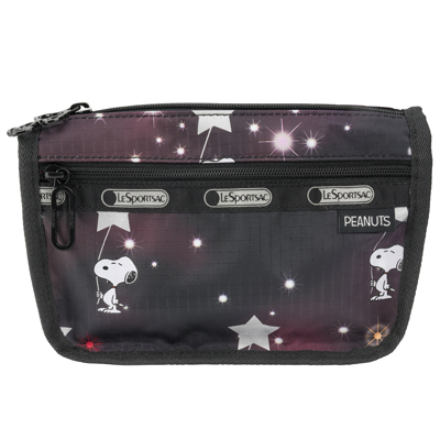 PEANUTS×LeSportsac TRAVEL COSMETIC スヌーピーインザスターズ