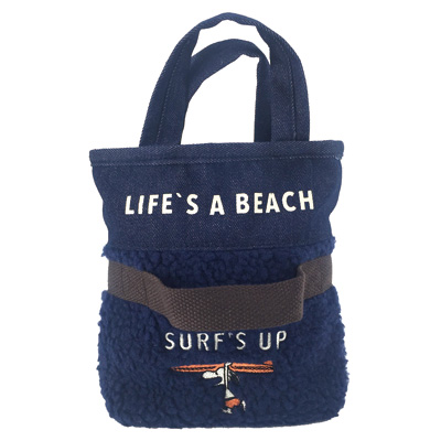 スヌーピー CAPACITY BAG XS(WINTER SURF/NAVY)