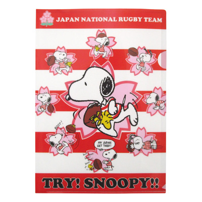 SNOOPY×ラグビー日本代表 A4クリアファイル