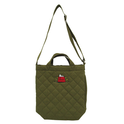 PEANUTS×ROOTOTE トール 2WAYバッグ キルト(Olive)