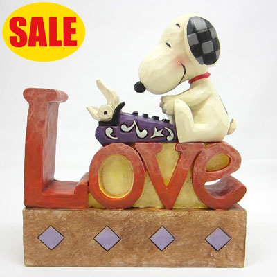 PEANUTS JIM SHORE フィギュア LOVE-Snoopy Love Word