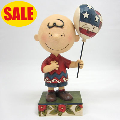 PEANUTS JIM SHORE フィギュア Patriotic Charlie Brown