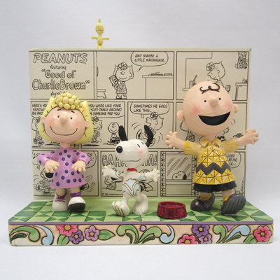 PEANUTS JIM SHORE フィギュア スヌーピー -Comic Book(Happy Dance)-