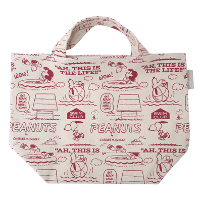 PEANUTS×ROOTOTE ベビールー トートバッグ(Pool/総柄)