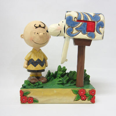 PEANUTS JIM SHORE フィギュア チャーリー・ブラウン -Special Delivery-