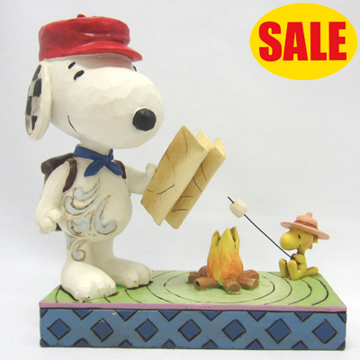 PEANUTS JIM SHORE フィギュア スヌーピー&ウッドストック -Snoopy with Woodstock Campfire-