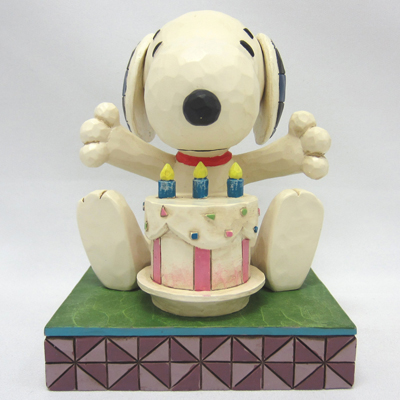 PEANUTS JIM SHORE フィギュア スヌーピー -Happy Birthday-