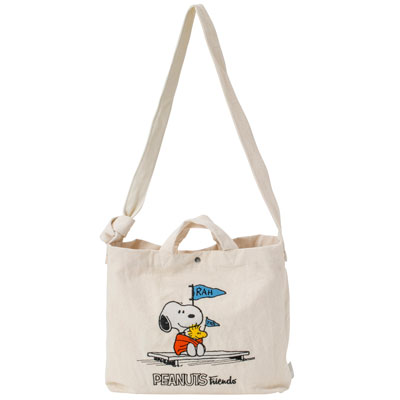 PEANUTS×ROOTOTE トール 2WAYバッグ 刺繍 (Friends)