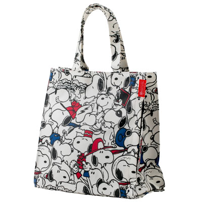 PEANUTS×ROOTOTE ラミネート スクエアバッグ (Face)
