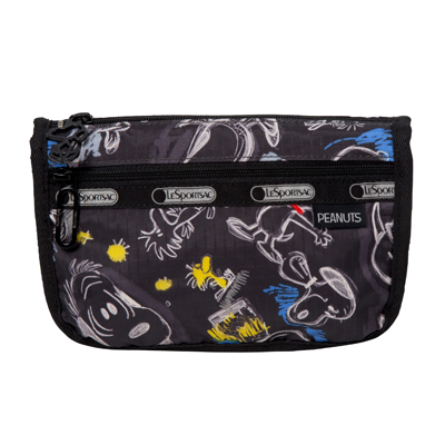 PEANUTS×LeSportsac TRAVEL COSMETIC チョークボードスヌーピー