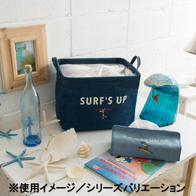 スヌーピー Pilier Square-Short S(SURF/NAVY)