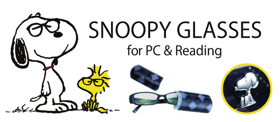 SNOOPY GLASSES for PC & Reading