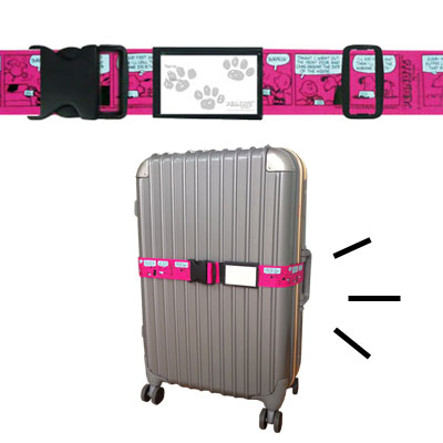 スヌーピー スーツケースベルト (ワンタッチ/コミックピンク)
