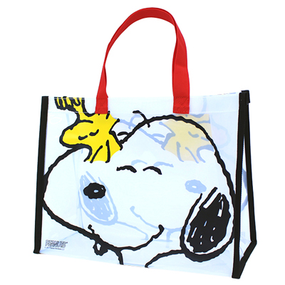 ビーチバッグ 縫製PVCトート (スヌーピー&ウッドストック) 2,052円(税込)
