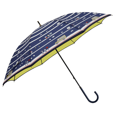 スヌーピー スヌーピー キャラクターパラソル 晴雨兼用日傘 (長傘/バスストップ)