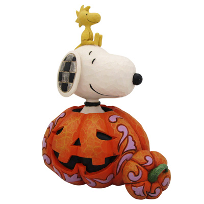 スヌーピー PEANUTS JIM SHORE フィギュア スヌーピー&ウッドストック -The Pumpkin King-