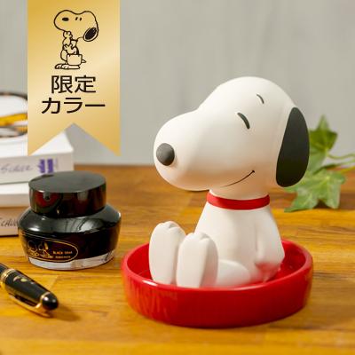 スヌーピー 【おかいものSNOOPY限定カラー】 素焼き加湿器 (S/レッド)
