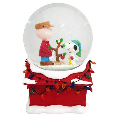 スヌーピー スヌーピー Department 56 スノードーム型オルゴール スヌーピー&チャリー・ブラウン -Charlie Brown Christmas Musical Water Globe-
