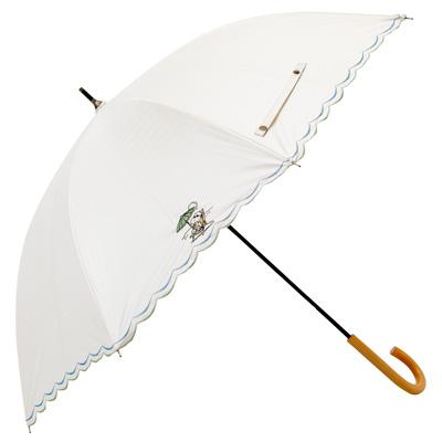 スヌーピー スヌーピー 晴雨兼用刺繍日傘 (まったりビーチ/ホワイト)