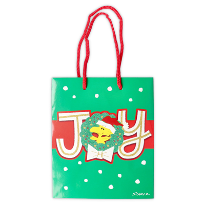 スヌーピー スヌーピー クリスマスペーパーバッグ Sサイズ (ウッドストックリース)